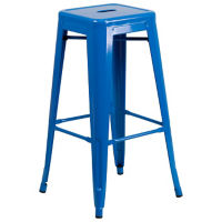 "Backless Metal Barstool - 30""H, K10086"