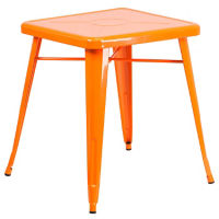 "27.75"" Square Metal Table, K10092"