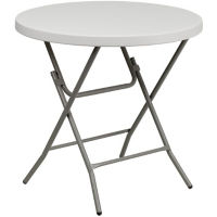 "Plastic Folding Table - 32""DIA, T10397"
