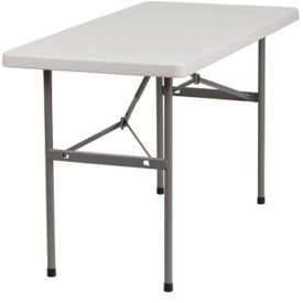 "Plastic Folding Table - 24"" x 48"", T10404"