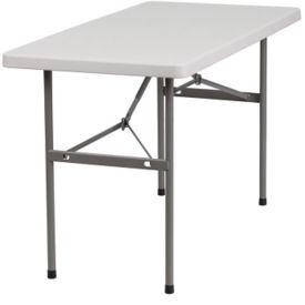 """Plastic Folding Table - 24"""" x 48"""", T10404"""