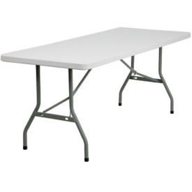 "Plastic Folding Table - 72"" x 30"", T10406"