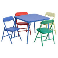 Child-Size Square Folding Table with Four Folding Chairs, T10410