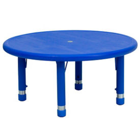 "Child Height Round Activity Table - 14.50"" - 23.75""H, T11825"