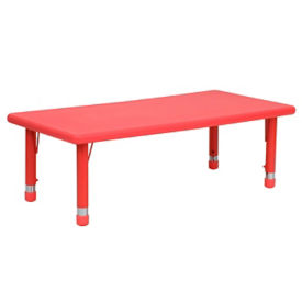 "Child Height Rectangular Activity Table - 14.50"" - 23.75""H, T11829"