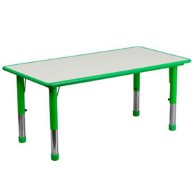 "Child Height Rectangular Shaped Activity Table - 14.50""-23.50""H , T11830"