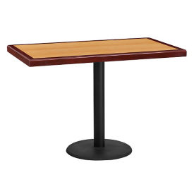 "42"" Rectangle Standard Height Table with Round Base, T11845"