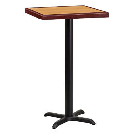 "24"" Square Bar Height Table with X-Base, T11847"