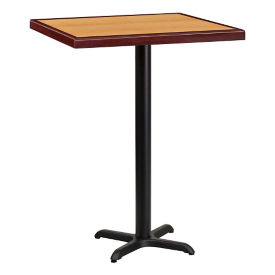 "30"" Square Bar Height Table with X-Base, T11852"