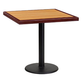"30"" Square Standard Height Table with Round Base, T11855"