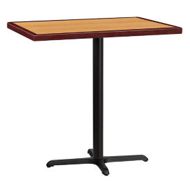 "42"" x 30"" Bar Height Rectangular Table with X Base, T11856"
