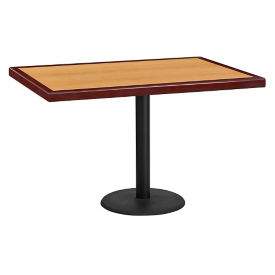 "48"" x 30"" Standard Height Rectangular Table with Round Base, T11863"
