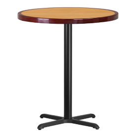 "36"" Round Bar Height Table with X Base, T11868"