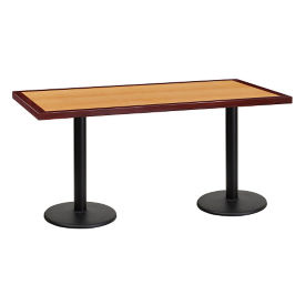 "60"" x 30"" Standard Height Table with Round Base, T11867"
