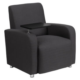 Fabric Club Chair with Tablet, W60023