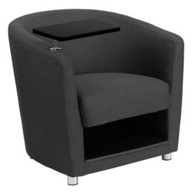 Fabric Tablet Arm Chair with Lower Storage , W60040
