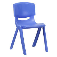 "Plastic 18""H Armless Stack Chair, C70050"