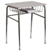 Open Front Book Basket Student Desk, J10113