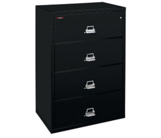 "Lateral Fire Proof File with 4 Drawers 44"" wide, D34033"