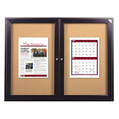 "Indoor Bronze Tone Bulletin Board 48""x36"", B20533"