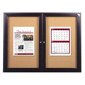 "Indoor Bronze Tone Bulletin Board 60""x36"", B20534"