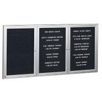 "Aluminum Indoor Directory Board 96""x48"", B20626"