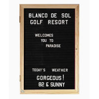 "Oak Frame Indoor Directory Board 18""x24"", B20637"