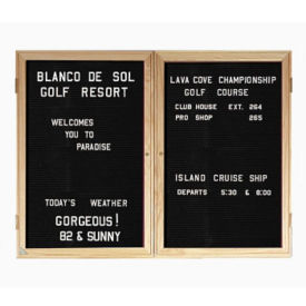 "Walnut Frame Indoor Directory Board 60""x48"", B20653"