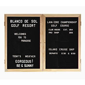 "Oak Frame Indoor Directory Board 48""x36"", B20641"