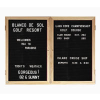 "Walnut Frame Indoor Directory Board 60""x36"", B20652"
