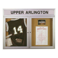 """Outdoor Bulletin Board with Header 48""""W x 36""""H, B20755"""