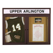 """48""""W x 36""""H Outdoor Bulletin Board with Header, B20779"""