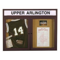 "48""W x 36""H Outdoor Bulletin Board with Header, B20779"