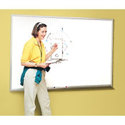 Melamine White Board with Aluminum Frame 5' x 4', B20852
