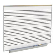 Porcelain Whiteboard with Music Staff Lines and Box Type Tray - 6' x 4', B23275