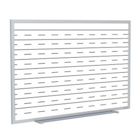 Whiteboard with Penmanship Lines and Blade Type Tray - 6' x 4', B23277