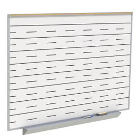 Whiteboard with Penmanship Lines and Box Type Tray - 6' x 4', B23279