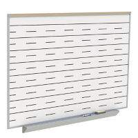 Whiteboard with Penmanship Lines and Box Type Tray - 8' x 4', B23280