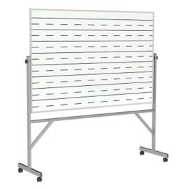 Reversible Whiteboard with Penmanship Lines and Blade Tray - 4' x 6', B23287