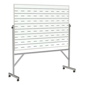 Reversible Whiteboard with Penmanship Lines and Box Tray - 4' x 6', B23288
