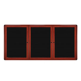 "Three Door Letterboard - 72"" x 48"", B23291"