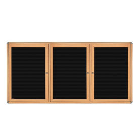 "Three Door Letterboard - 72"" x 48"", B23294"