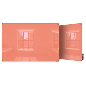 Square Corner Glass Board - 4' W x 3' H , B23389