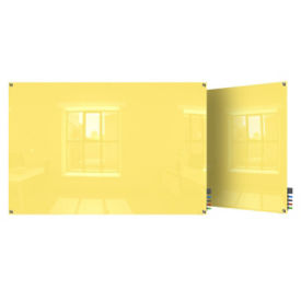 Magnetic Square Corner Glass Board - 3' W x 2' H, B23398