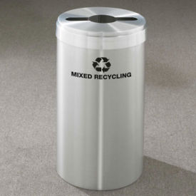 "Mixed Recycling Unit in Satin Aluminum Finish 15"" Diameter, R20086"