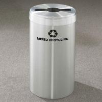 "Mixed Recycling Unit in Satin Aluminum Finish 12"" Diameter, R20084"