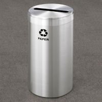 "Paper Recycling Unit in Satin Aluminum Finish 12"" Diameter, R20090"