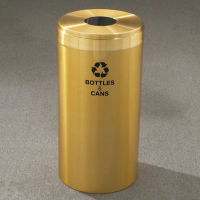 "Bottles and Cans Recycling Unit with Paint Finish 15"" Diameter, R20099"