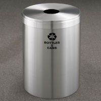 "Bottles and Cans Recycling Unit in Satin Aluminum Finish 15"" Diameter, R20098"