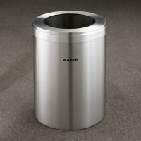 "Waste Unit in Satin Aluminum Finish 15"" Diameter, R20104"